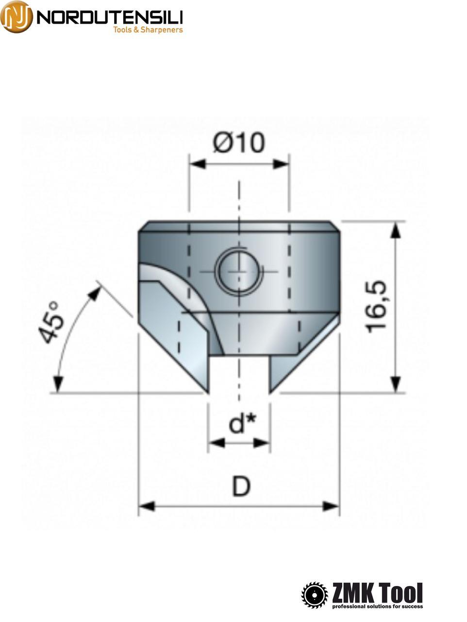 Зенкер для сверла диаметром 5 мм левый