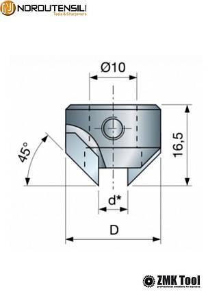 Зенкер для сверла диаметром 8 мм левый, фото 2