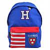 """Рюкзак молодий. """"Yes"""" Harvard blue 1від.,1карм.,41х30х11см №SP-15/555040, фото 2"""