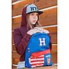 """Рюкзак молодий. """"Yes"""" Harvard blue 1від.,1карм.,41х30х11см №SP-15/555040, фото 4"""