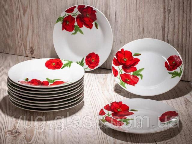 тарелка нарезная фарфоровая