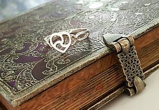 Кольцо серебро, ручная работа, БДСМ символика