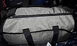 Жіноча чорна сумка Бочка дорожня і міська, з відділенням для взуття 50*28 см, різні накатки, фото 3