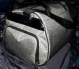 Жіноча чорна сумка Бочка дорожня і міська, з відділенням для взуття 50*28 см, різні накатки, фото 4
