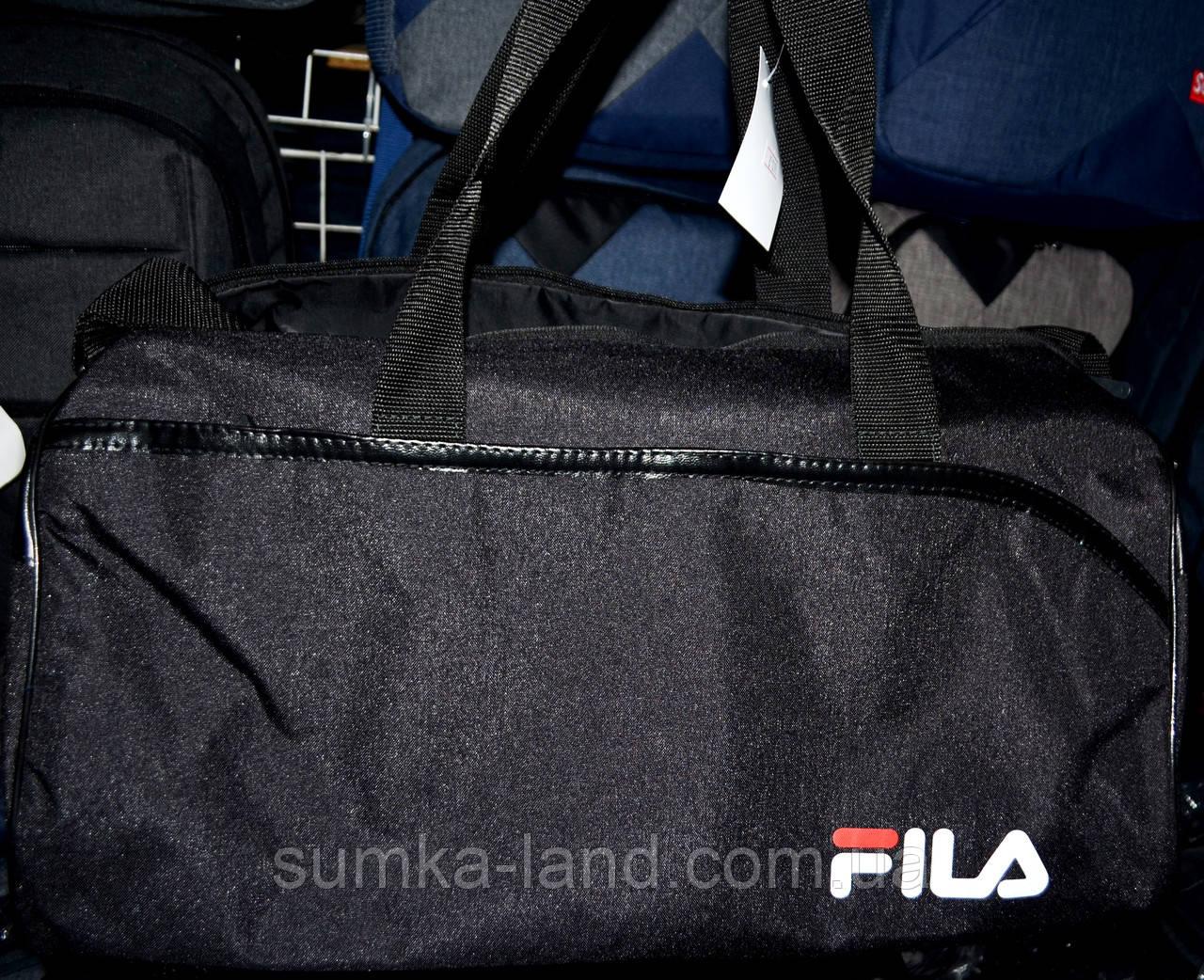 Жіноча чорна сумка Бочка дорожня і міська, з відділенням для взуття 50*28 см, різні накатки