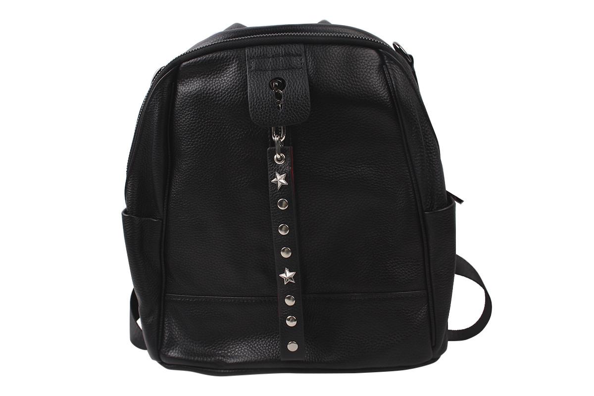 Сумка-рюкзак жіночий молодіжний еко-шкіра, колір чорний