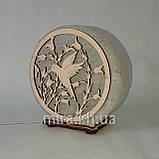 Соляной светильник круглый Колибри, фото 2