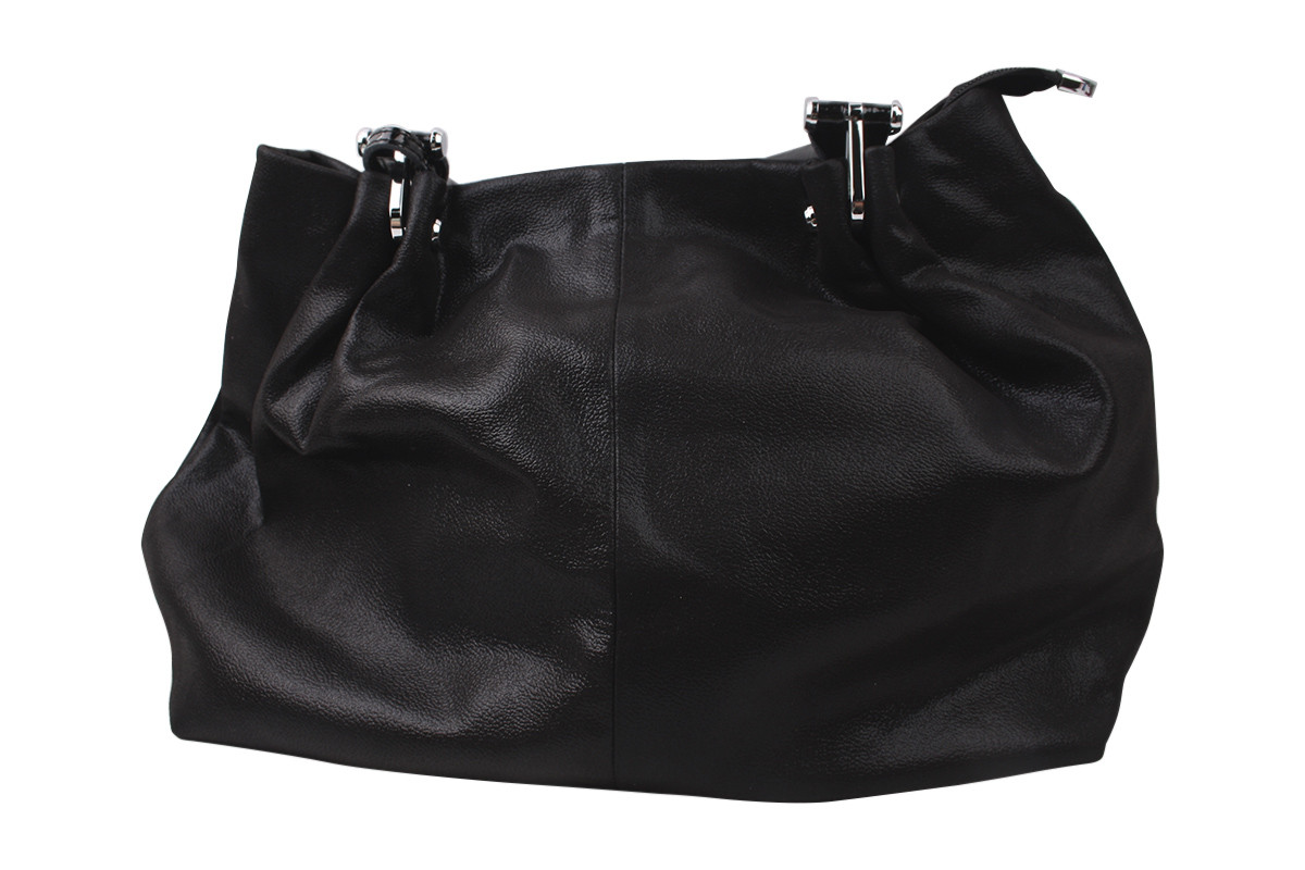 Сумка жіноча молодіжна сатин, колір чорний