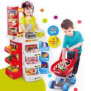 """Детский игровой набор """"Мой Магазин"""" Супермаркет 668-20 прилавок, касса, сканер, тележка - 32 предмета"""