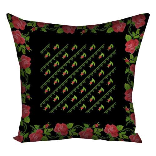 4dfc2bdb0feb74 Подушка декор Роза вышиванка, цена 125,35 грн., купить Хмельницький ...
