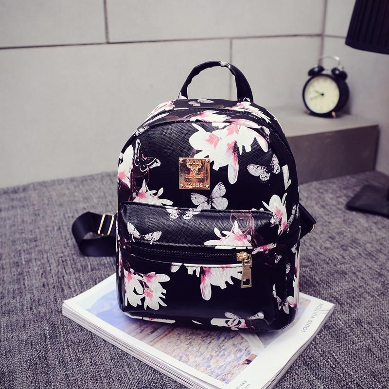 Женский рюкзак городской Flowers (уцененный товар)