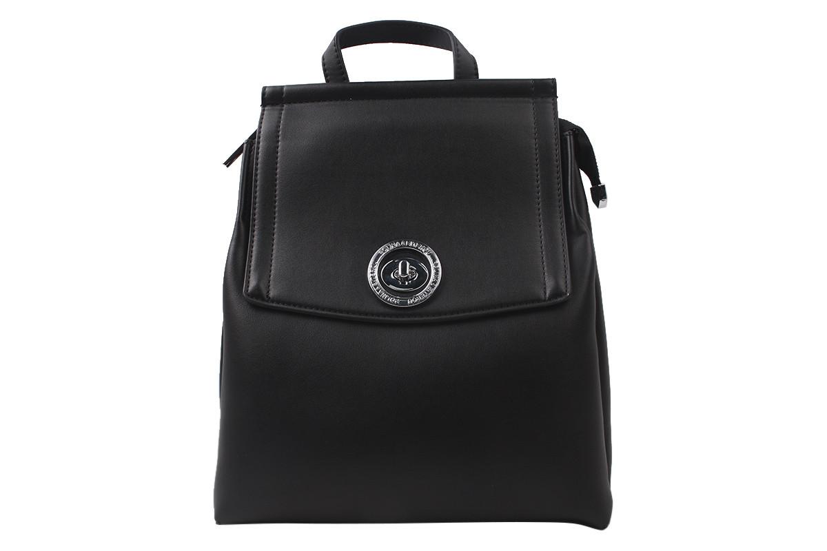 Сумка-рюкзак женская молодежная еко-кожа, цвет черный