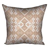 Подушка декор с орнаментом Крем