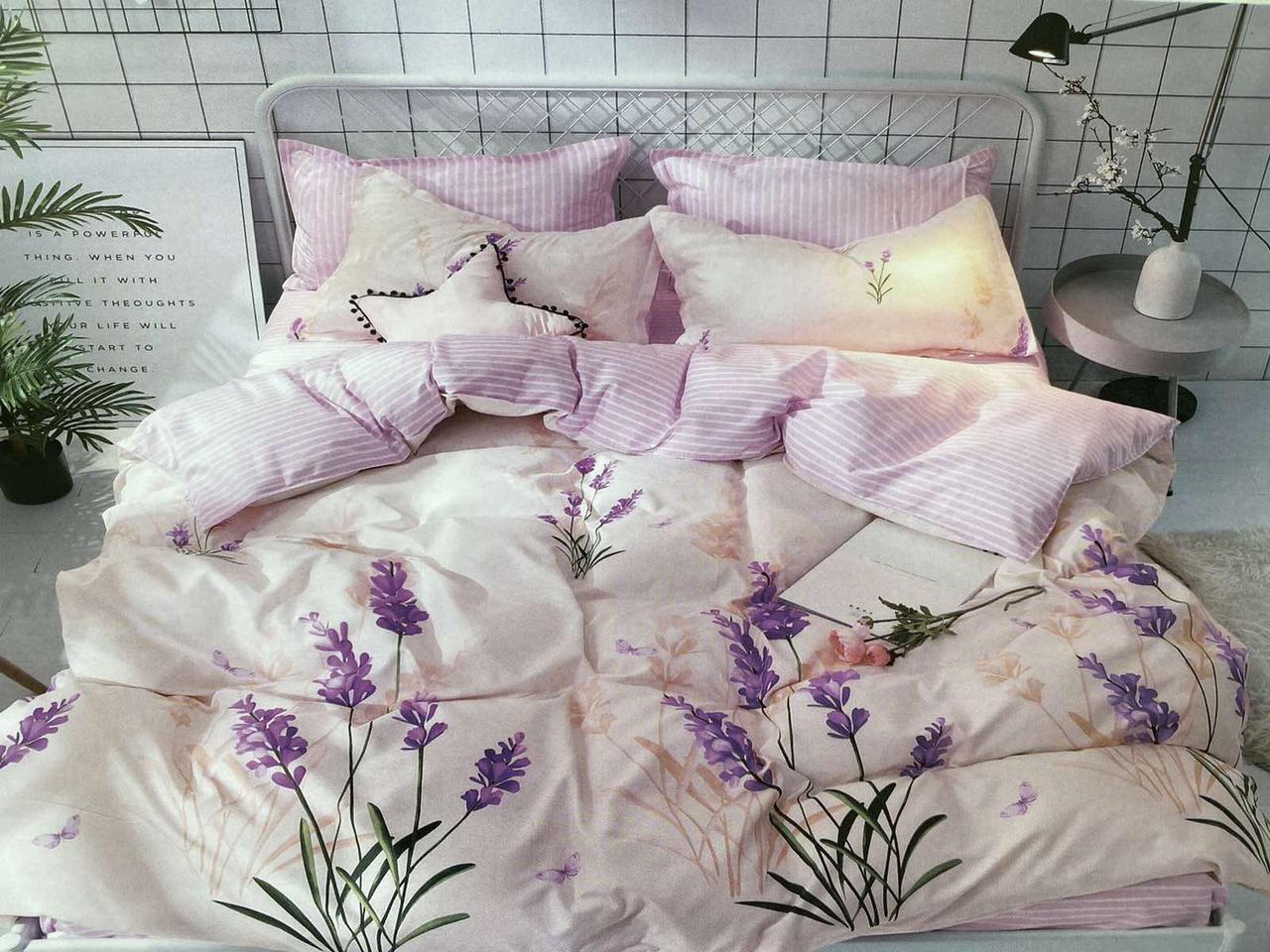 Двуспальный комплект постельного белья евро 200*220 хлопок  (15126) TM KRISPOL Украина