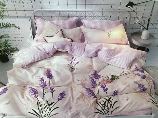 Двуспальный комплект постельного белья евро 200*220 хлопок  (15126) TM KRISPOL Украина, фото 2