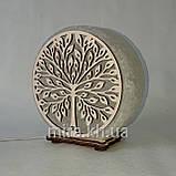 Соляной светильник круглый Дерево 2 зеленый, фото 3