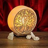 Соляной светильник круглый Дерево 2 зеленый, фото 8