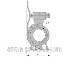 Кран шаровой наземный под приварку РN100 (80) с ручным управлением DN 150