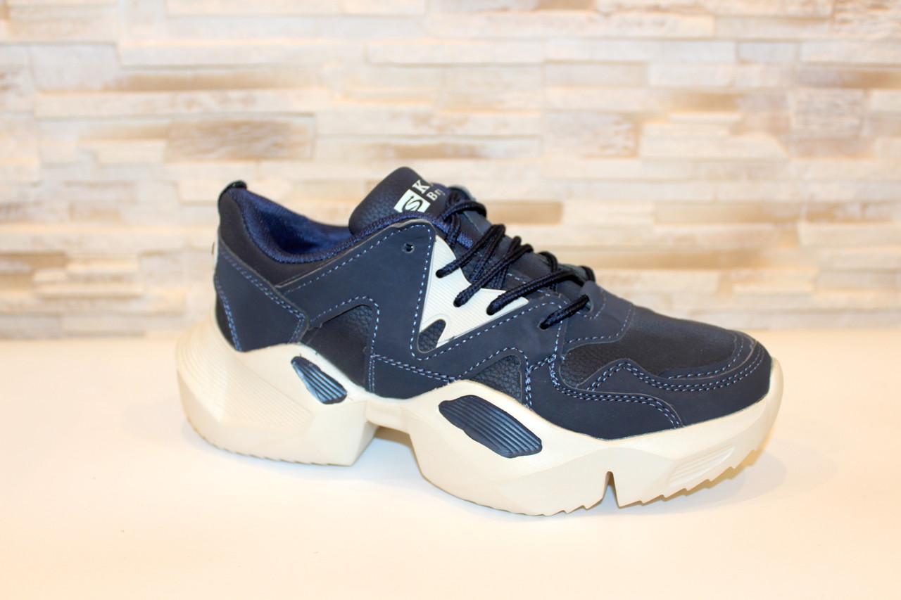 Кроссовки женские синие Т1115
