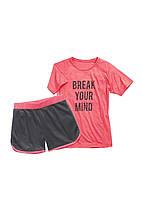 Спортивный костюм футболка и шорты Crane 146-152 см Розовый 2333129723331273, КОД: 1641712