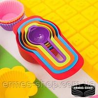 Набір мірних ложок Benson BN-1036 (6 штук) | Мірний посуд | Мірна ємність | Мірна ложка, фото 2