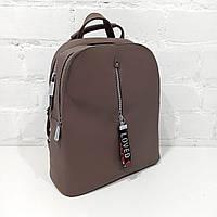 Вместительный женский сумка-рюкзак кожзаменитель т. пудра Арт.HS356 Eteral Smile (Китай)