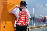 Рюкзак SUPREME & The North Face суприм школьный портфель красный, фото 2