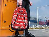 Рюкзак SUPREME & The North Face суприм школьный портфель красный, фото 3