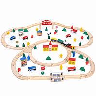 Железная дорога из дерева. Развивающая деревянная игрушка. Супер подарок для мальчика