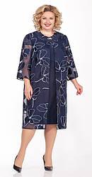 Платье-двойка женское Беларусь модель ЛК-1163-20 синее