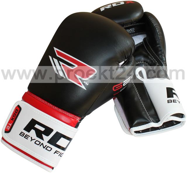 RDX Rex Leather Black, боксерские перчатки 10унций