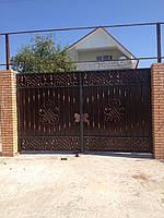Ворота распашные под заказ