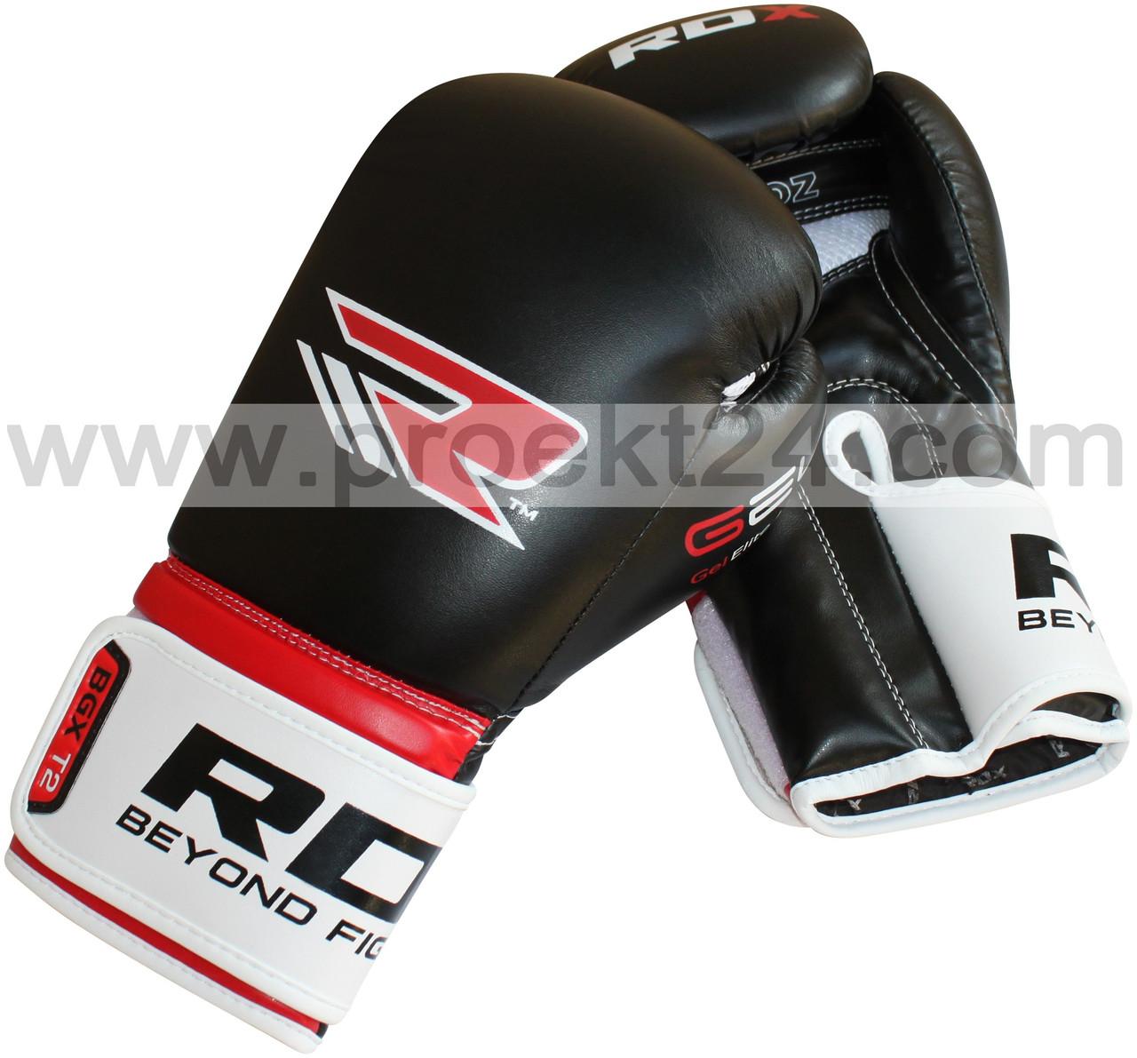 "Боксерские перчатки ""RDX Rex Leather Black"" 10унций"