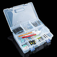 Органайзер пластиковая коробка для Arduino радиодеталей кейс 23*16, фото 2