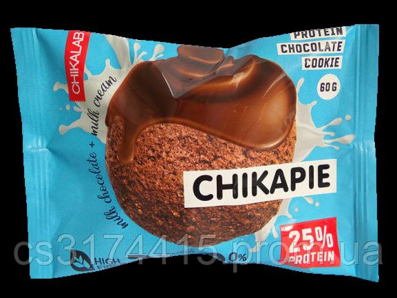 Протеїнове печиво Chikalab CHIKAPIE Шоколад з Начинкою (60 грам)