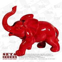 Копилка, статуэтка Слон красного цвета