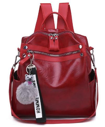 Рюкзак-сумка женская с игрушкой Noble