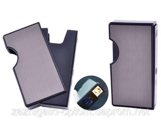 Портсигар с USB зажигалкой HL-154 Black