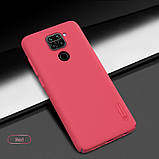 Nillkin Xiaomi Redmi Note 9/ 10X 4G Super Frosted Shield Red Чохол Накладка Бампер, фото 4