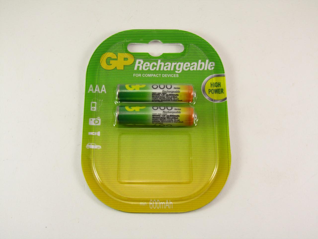 Аккумулятор GP NiMH AAA (HR03) 600mAh 1,2V
