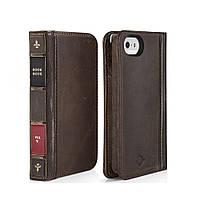 Чехол-книжка Twelvesouth BookBook Classic для Apple iPhone 5S/5 коричневый (TWS-12-1232)