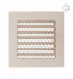 Вентиляционная решетка для камина KRATKI 17х17 см бежевая с жалюзи, фото 2