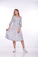 """Женское летнее светлое платье с открытыми плечами Pari """" Скай"""", размер 44"""
