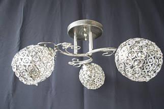 Люстра на 3 лампочки 7351c-3 (CR+BS), фото 2
