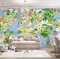 """Детские фотообои """"Карта мира"""""""