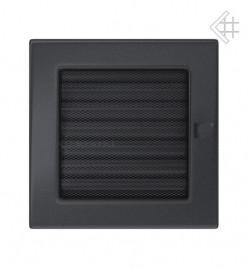 Вентиляционная решетка для камина KRATKI 17х17 см графитовая с жалюзи