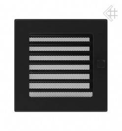 Вентиляционная решетка для камина KRATKI 17х17 см черная с жалюзи, фото 2