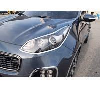 Накладки на фары Kia Sportage 2015- хром  Autoclover AC D831