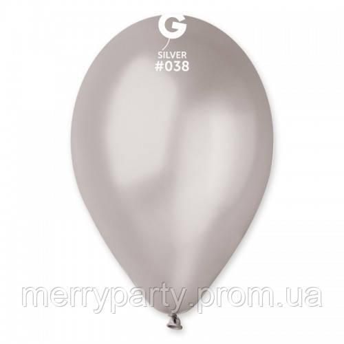 "12"" (30 см) металлик серебристый Gemar Италия G-38 латексный шар"
