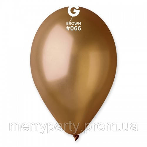 """12"""" (30 см) металлик коричневый Gemar Италия G-66 латексный шар"""